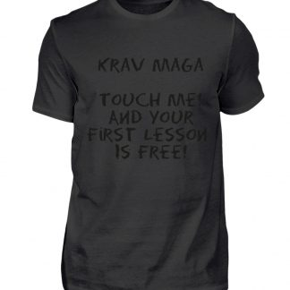 Krav Maga Touch me! And Your First.. - Herren Premiumshirt-16