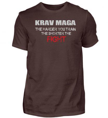 Krav Maga - The Harder You Train... - Herren Premiumshirt-1074