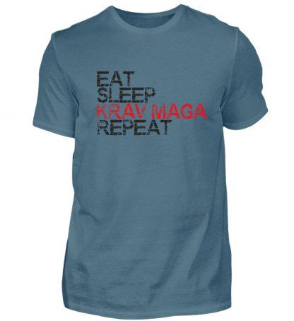 Eat Sleep Krav Maga Repeat - Herren Shirt-1230