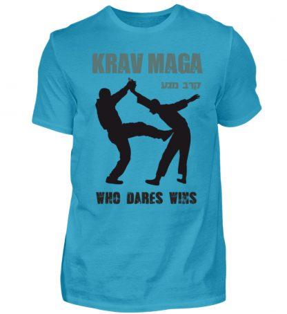 Krav Maga - Who Dares Wins - Herren Premiumshirt-3175
