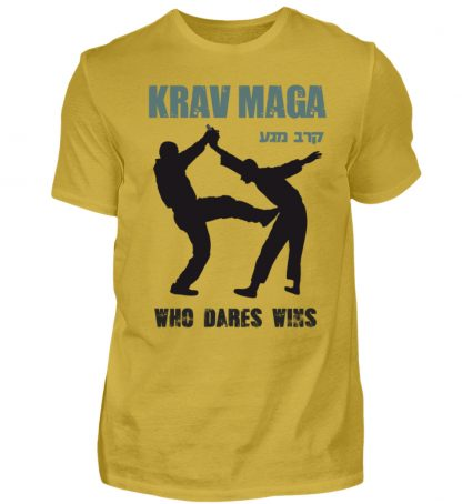 Krav Maga - Who Dares Wins - Herren Premiumshirt-2980