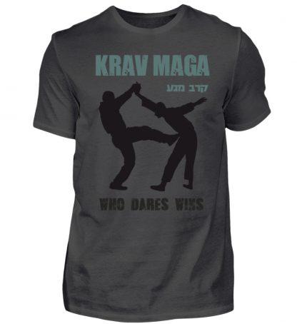 Krav Maga - Who Dares Wins - Herren Premiumshirt-2989
