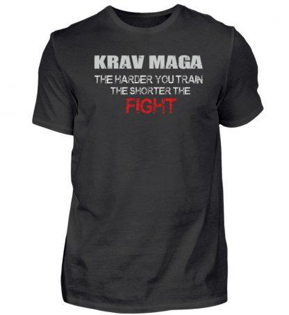Krav Maga - The Harder You Train... - Herren Shirt-16