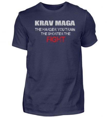 Krav Maga - The Harder You Train... - Herren Shirt-198