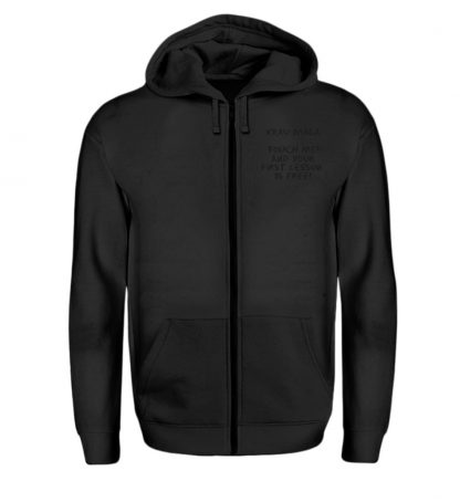 Krav Maga Touch me! And Your First.. - Zip-Hoodie-16