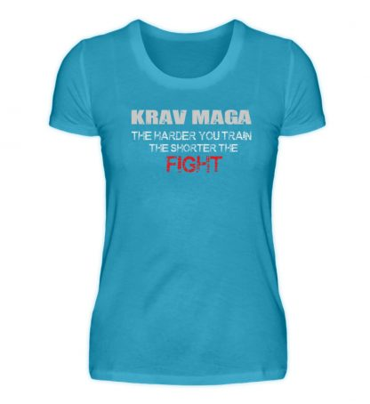 Krav Maga - The Harder You Train... - Damen Premiumshirt-3175
