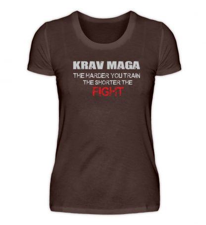 Krav Maga - The Harder You Train... - Damen Premiumshirt-1074