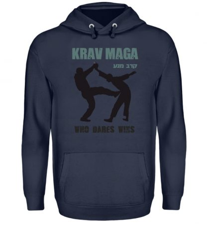 Krav Maga - Who Dares Wins - Unisex Kapuzenpullover Hoodie-1698