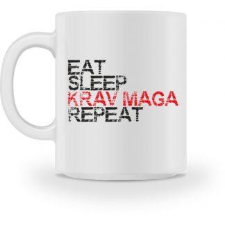 Eat, Sleep, Krav Maga, Repeat - Tasse-3
