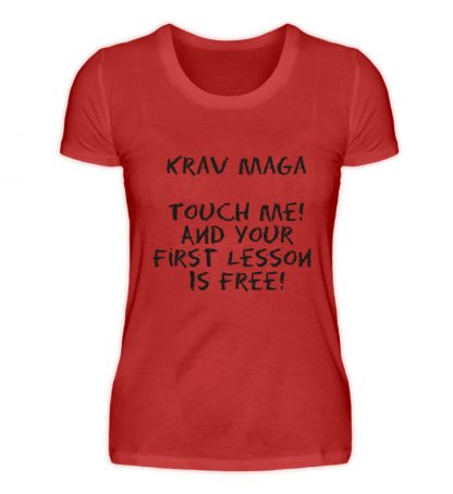 Krav Maga Touch me! And Your First.. - Damen Premiumshirt-4